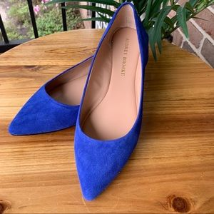 Stunning flat shoes in cobalt suede 💙